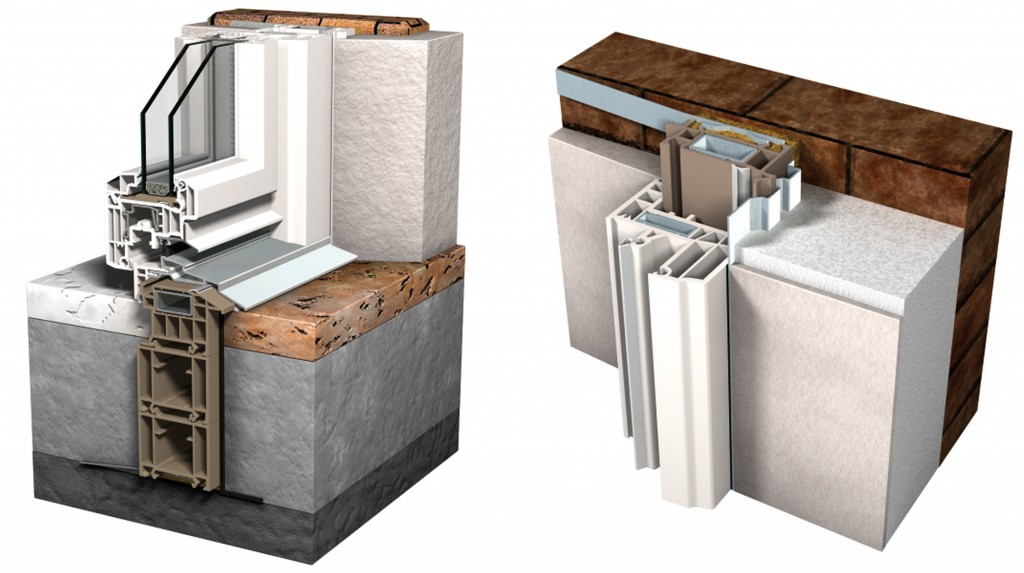 Controtelaio con quarto lato infissi a taglio termico sa ventana infissi - Montaggio finestre pvc senza controtelaio ...
